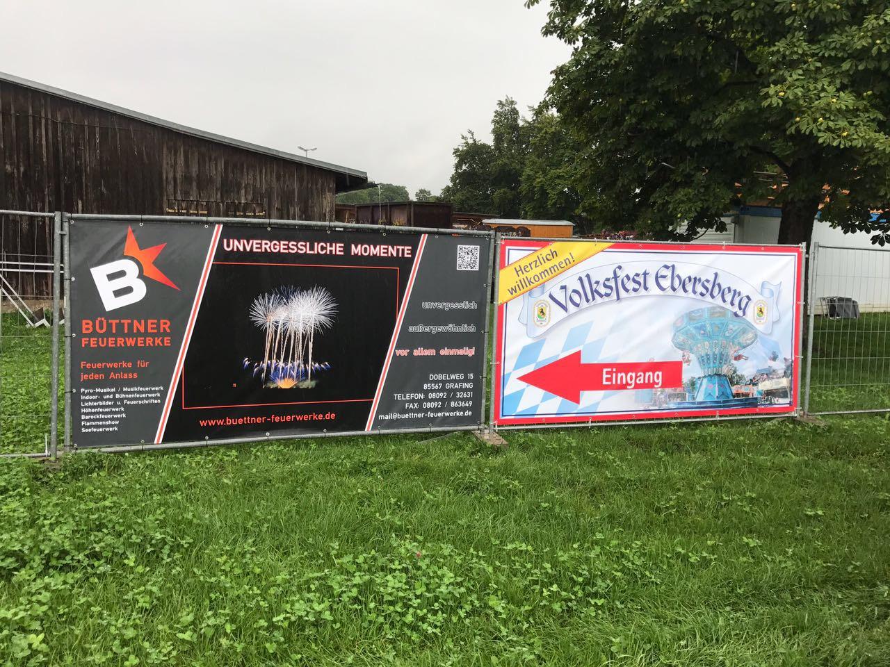 PVC-Werbebanner für das Volksfest Ebersberg erstellt
