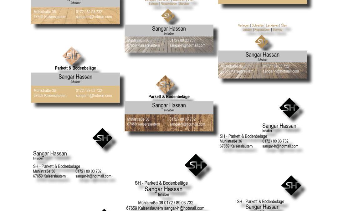 Design von Visitenkarten für Bodenlegerfirma